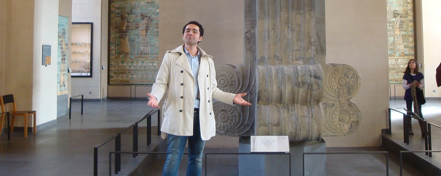 Amir Azarbakht at Louvre Paris France